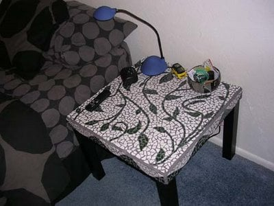 ikea mosaic table