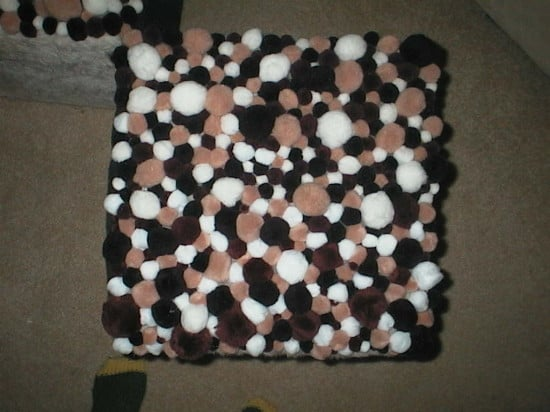 Sundae toppings footstools (top view)