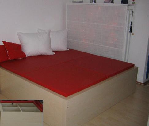 IKEA Expedit bed   IKEA HACKERS