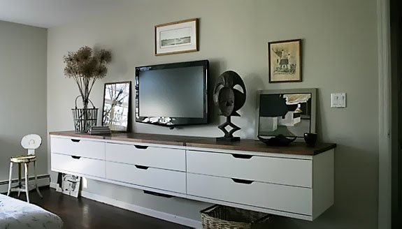 A winning Stolmen floating credenza for the bedroom