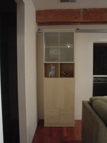 Bookcase Sliding Door Hides Secret Passageway