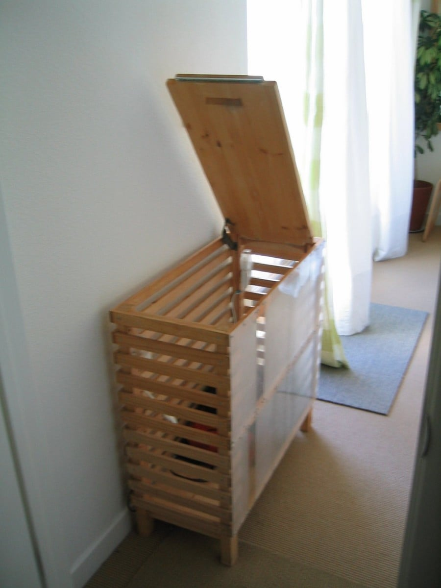 Large Laundry Basket Diy A Stylish Ikea Ivar Hack Ikea Hackers