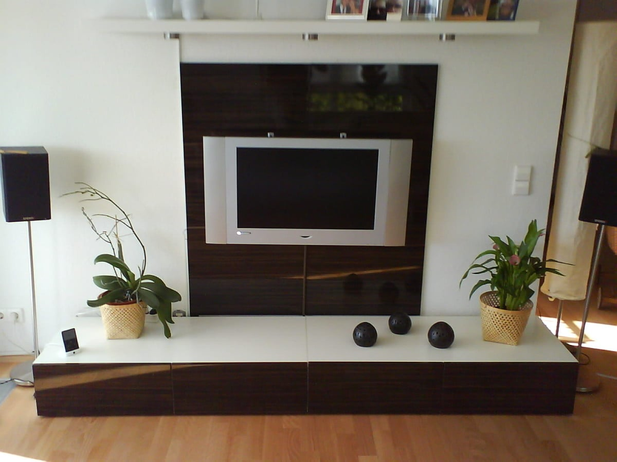 a flat tv wall combo unit ikea hackers ikea hackers. Black Bedroom Furniture Sets. Home Design Ideas