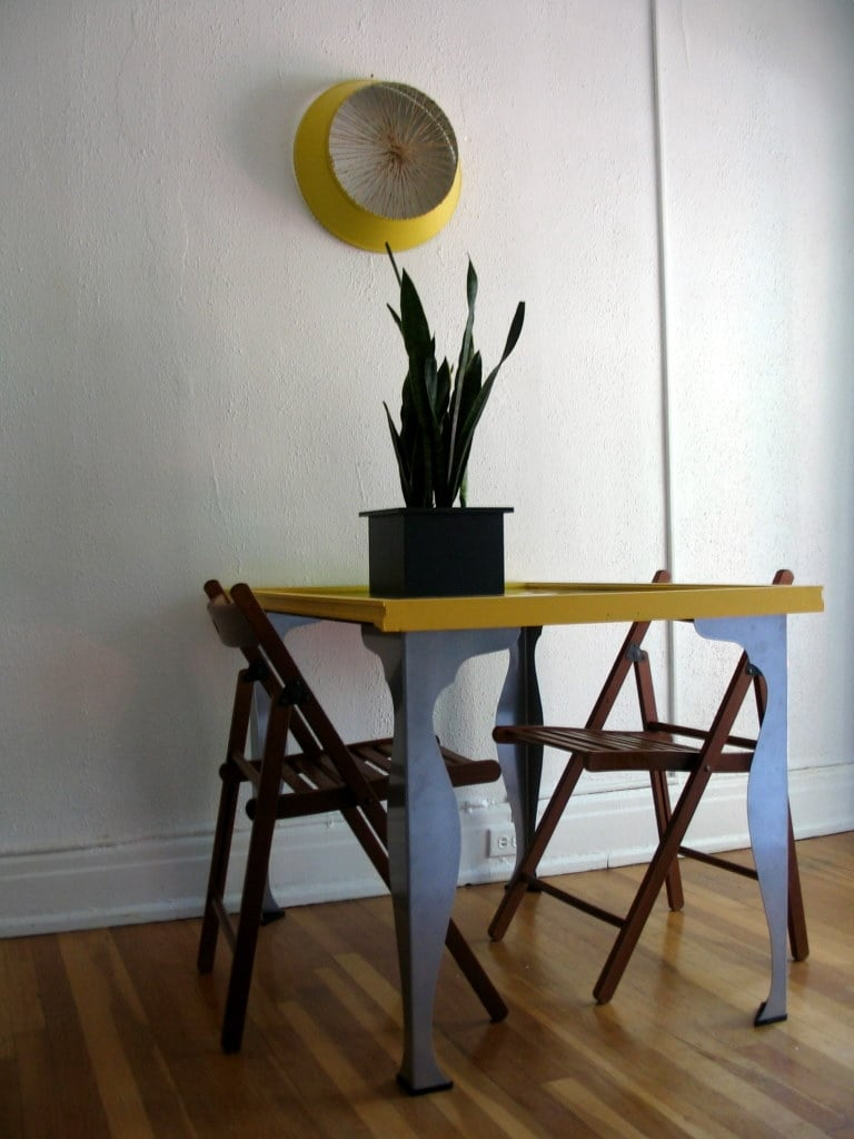 Dining Table With Vika Fintorp Legs Ikea Hackers Ikea