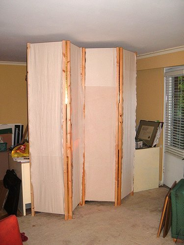 Diy a room divider from ivar units ikea hackers ikea hackers - Temporary room dividers diy ...
