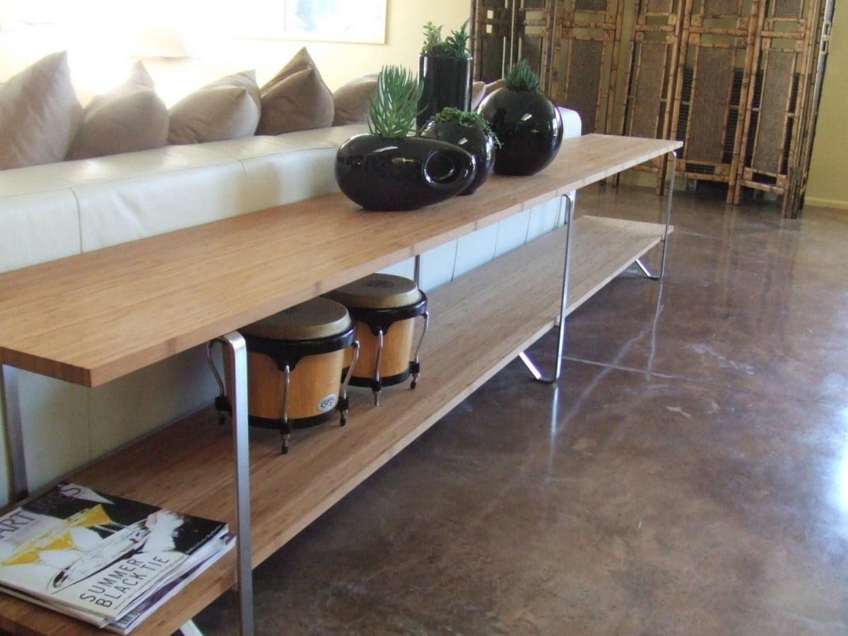 sofa table from salvaged ikea table legs ikea hackers ikea hackers. Black Bedroom Furniture Sets. Home Design Ideas