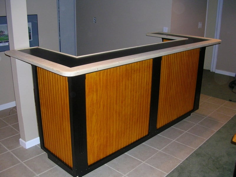A home bar from kitchen furniture ikea hackers for Corner bar cabinet ikea