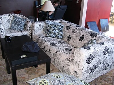 Stencil Your Slipcovers For A Fresh New Look