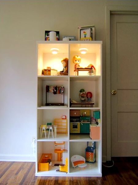 Here S An Idea A Bonde Bookcase Dollhouse