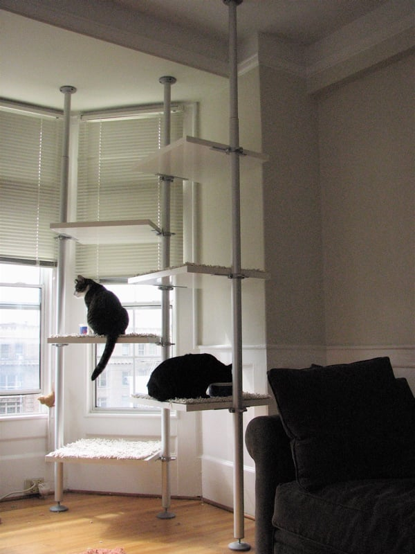 a tree in the living room for your cat to climb  IKEA