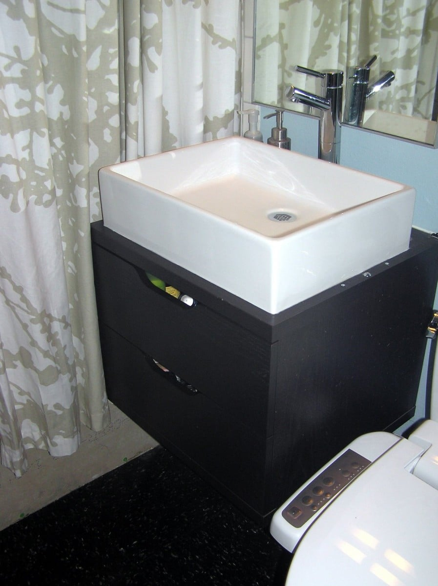 Bathroom special space saving wall mounted vanity ikea hackers ikea hackers - Ikea bathrooms images ...