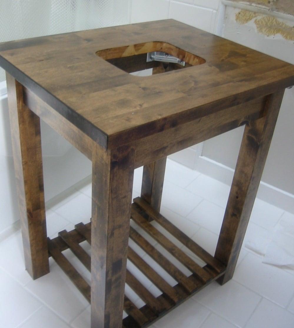 Столик под умывальник своими руками