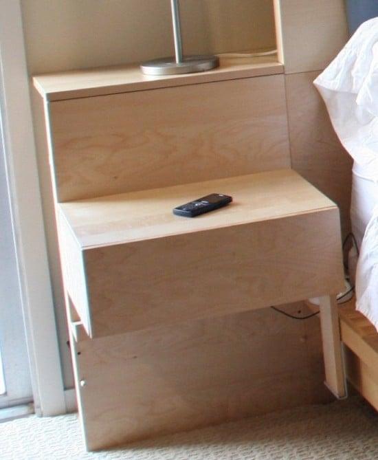 Hacked Malm headboard and nightstands.
