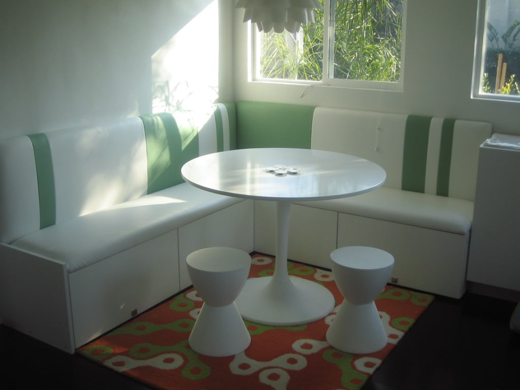 make a compact banquette from kitchen cabinets ikea hackers. Black Bedroom Furniture Sets. Home Design Ideas