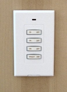 x-10 switch for wardrobe lighting