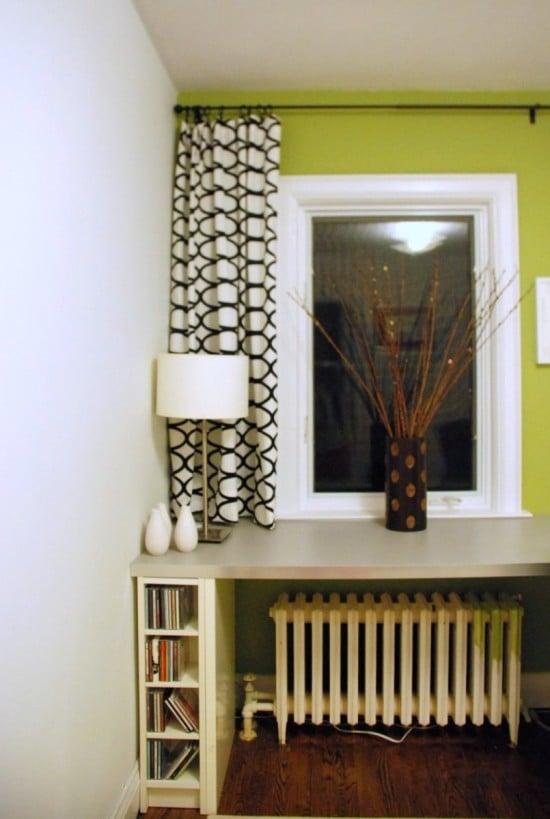 Home office setup with IKEA furnishings