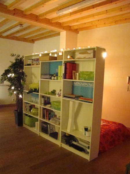 Very Small Living Room Ideas: Bookshelf Room Dividers With A Little Help From BILLY