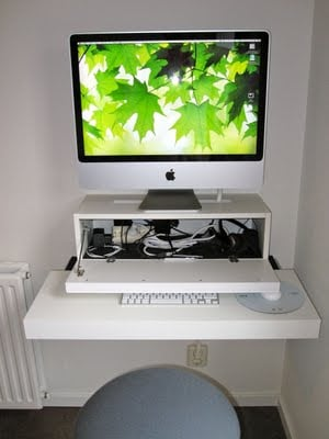 iMac computer desk IKEA Hackers