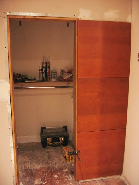 Walk In Closet From Kitchen Wall Panels Ikea Hackers