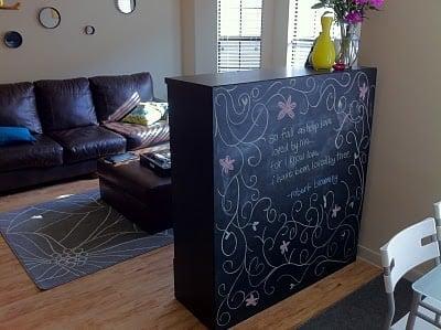 besta boas chalkboard room divider ikea hackers. Black Bedroom Furniture Sets. Home Design Ideas
