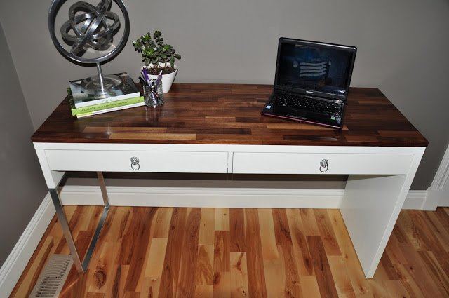 Micke Desk Fine Tuned To High End Glory Ikea Hackers