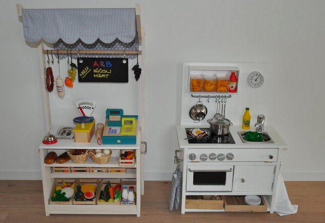 play kitchen food storage play kitchen and market stall ikea hackers 4283