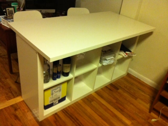 expedit breakfast bar desk ikea hackers. Black Bedroom Furniture Sets. Home Design Ideas