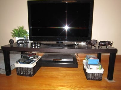 Tv Stand With Floating Dvd Platform Ikea Hackers