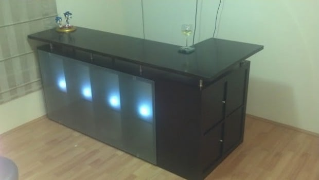 Awesome expedit drinks bar ikea hackers ikea hackers Home bar furniture ikea