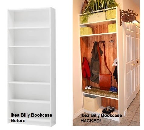 Billy To Entry Bench Locker Ikea Hackers