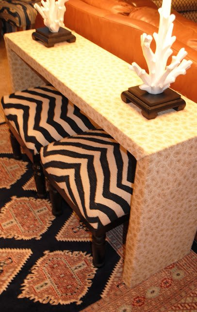 Upholstered Malm Console Table Ikea Hackers