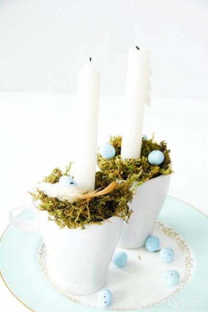 FÄRGRIK candle holder: An Easter decoration