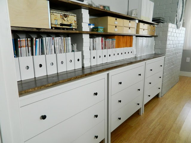 Koppang Dressers Plus Shelves For Office Sewing Room Storage Ikea Hackers