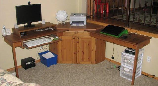 Kitchen table alve diktad corner computer desk ikea hackers