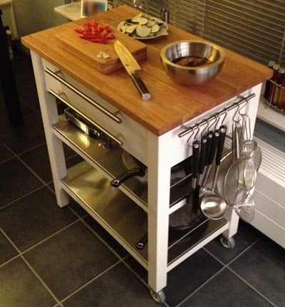 Stenstorp kitchen trolley deluxe ikea hackers ikea hackers for Bekvam kitchen cart