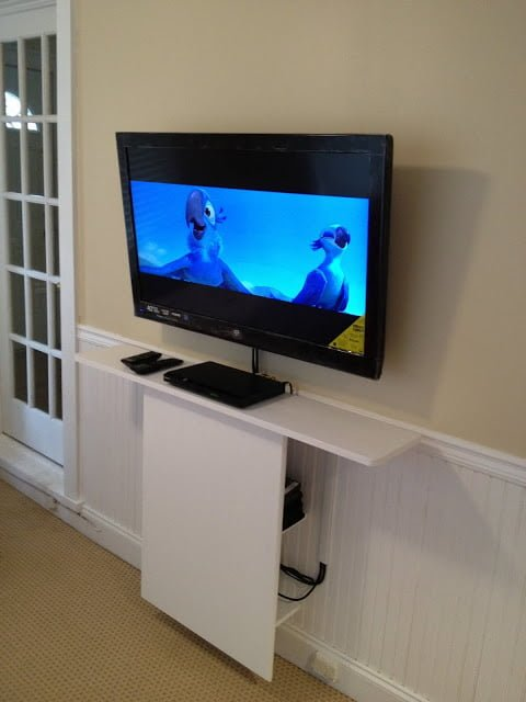 Leksvik Floating Tv Stand Ikea Hackers Ikea Hackers
