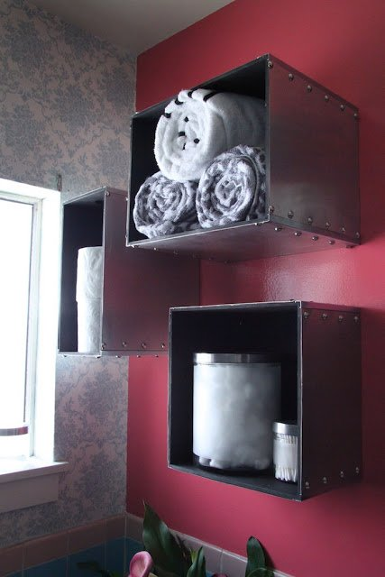 Prant storage boxes become steam punk wall storage & Prant storage boxes become steam punk wall storage - IKEA Hackers