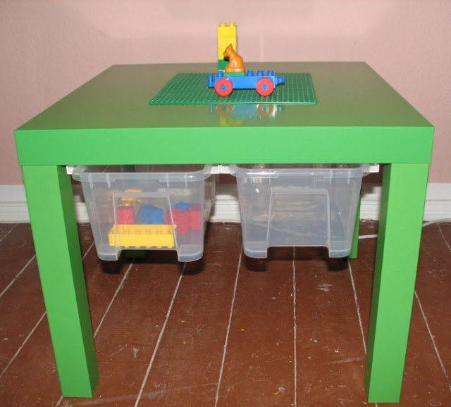 LACK kids' table for LEGO, DUPLO or just crayons - IKEA Hackers