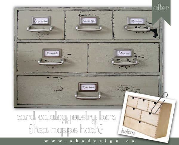 Moppe Card Catalog Jewelry Box IKEA Hackers