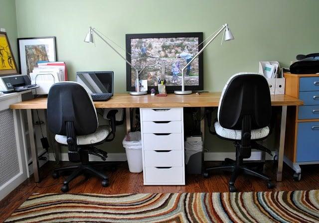 Beau Butcher Block U003d Perfect Double Desk