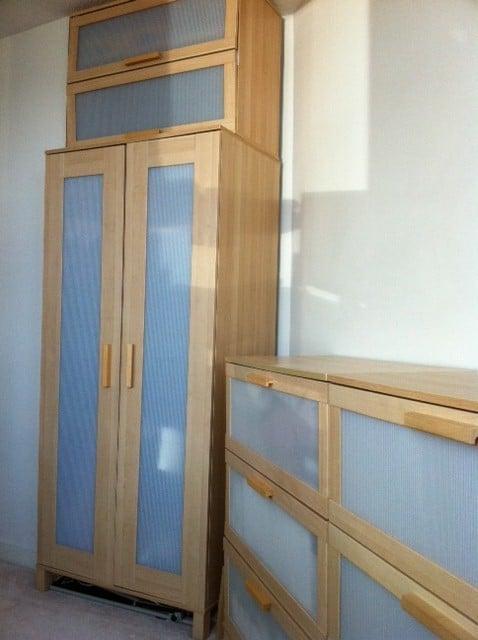 shortened aneboda as storage cabinet ikea hackers. Black Bedroom Furniture Sets. Home Design Ideas