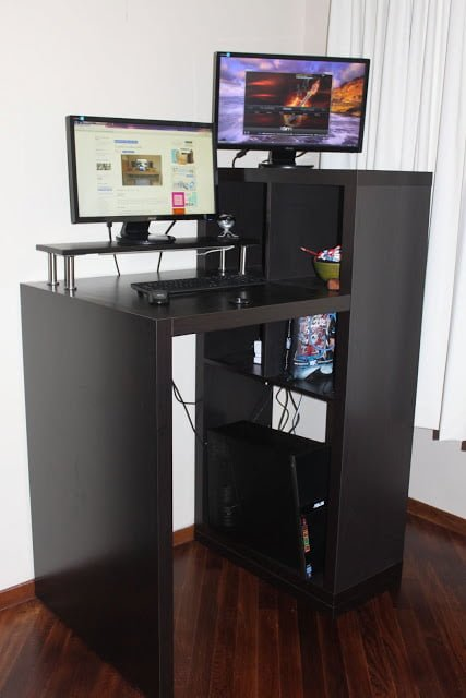 Expedit Workstation To Small Form Standing Desk Ikea Hackers