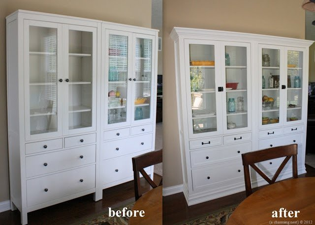 turning ikea hemnes into built ins ikea hackers. Black Bedroom Furniture Sets. Home Design Ideas