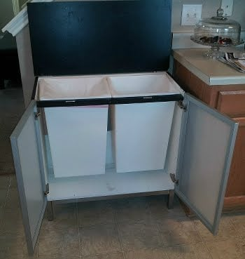 Bathroom Sink Base To Trash Recycling Center Ikea Hackers