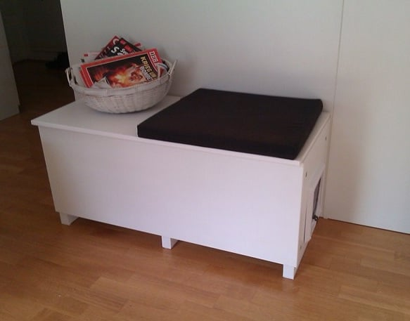 covered cat litter box furniture. Cat Litter Box In A Living Room, Why Not? Covered Furniture L