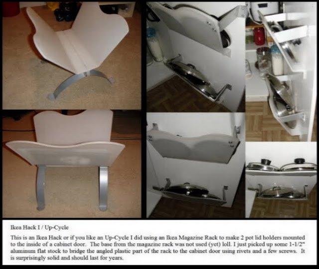 In Cabinet Pot Lid Holder Ikea Hackers