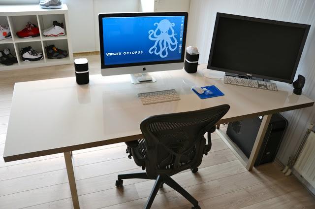 whiteboard desk ikea hackers ikea hackers. Black Bedroom Furniture Sets. Home Design Ideas