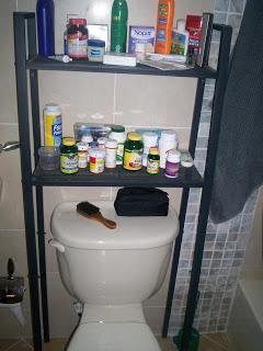 Spectacular LERBERG shelf into Storage over toilet unit