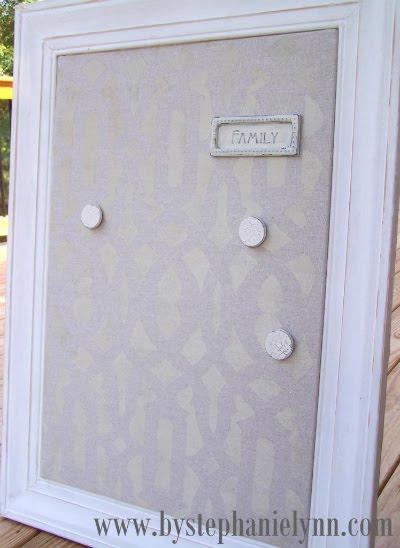 framed ikea magnetic spontan board make over ikea. Black Bedroom Furniture Sets. Home Design Ideas