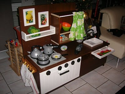 play kitchen from benno tv unit ikea hackers ikea hackers